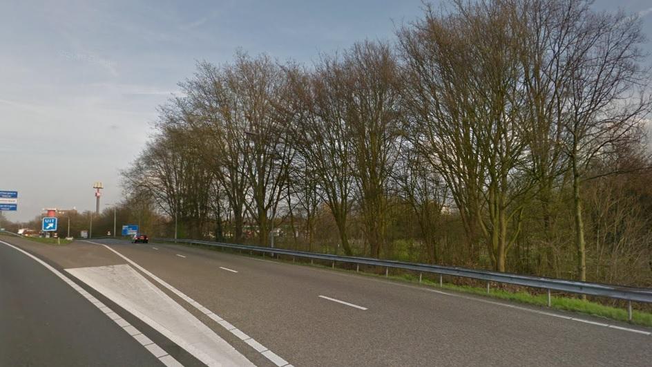 Bomenkap voor verbreding A20 bij Vlaardingen
