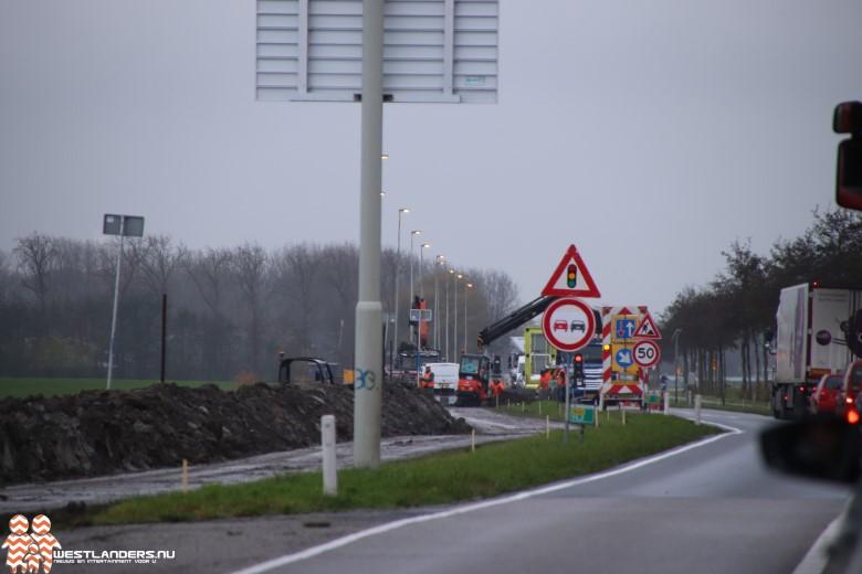Dit weekend afsluiting Woudseweg (N223)