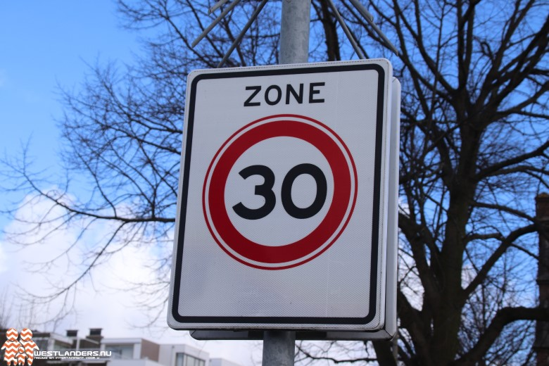 Bekeuringen bij snelheidscontrole in Poeldijk