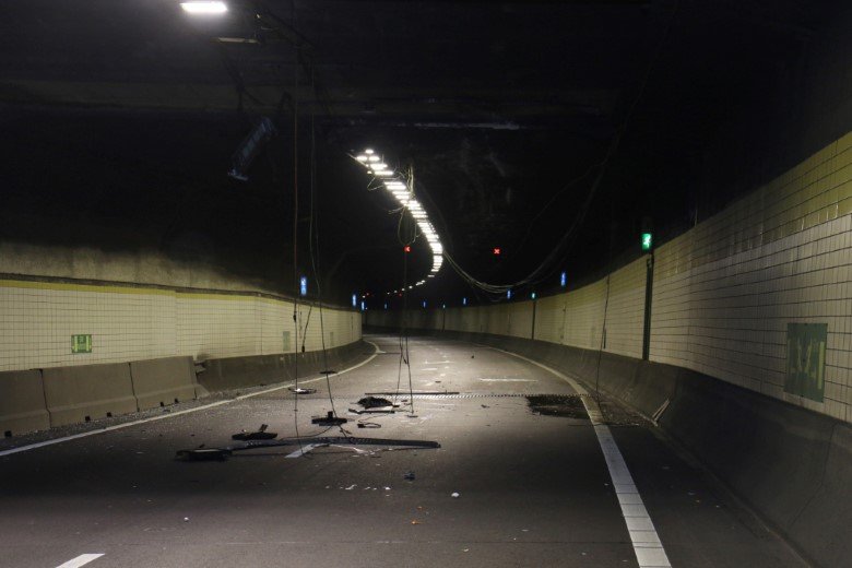 Ravage in Beneluxtunnel door ongeluk