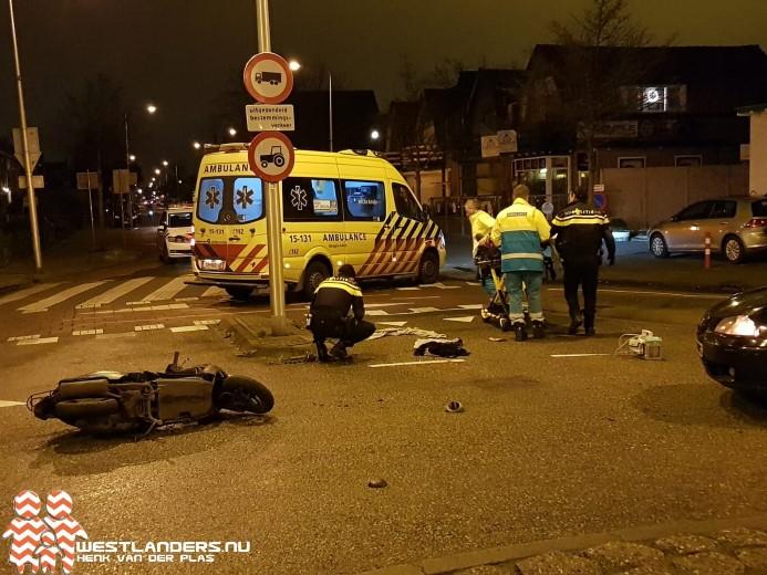 Scooterrijder ernstig gewond na ongeluk