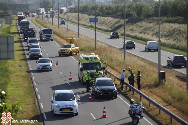 Motorrijder gewond bij ongeluk Wippolderlaan