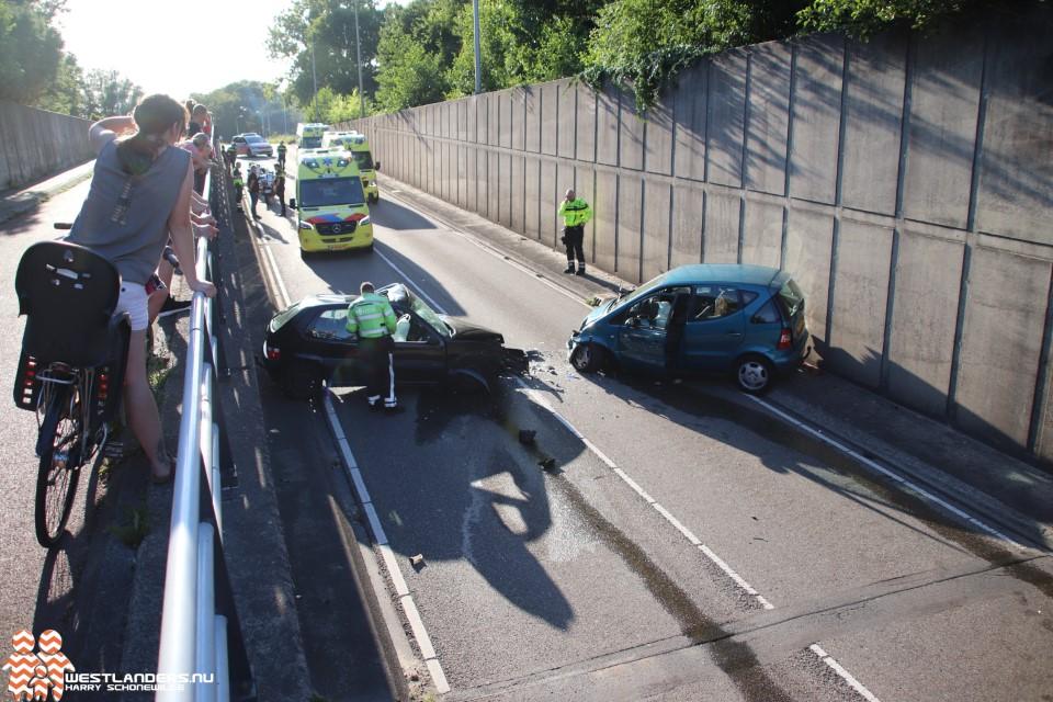 Drie gewonden bij ongeluk tunnelbak Poeldijkseweg