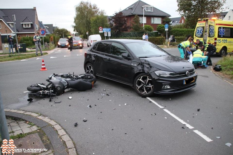 Motorrijder gewond bij ongeluk Noordweg