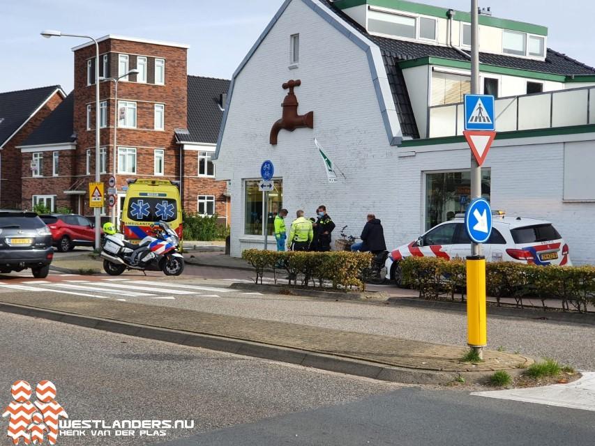 Scooterrijder gewond bij ongeluk Poeldijkseweg