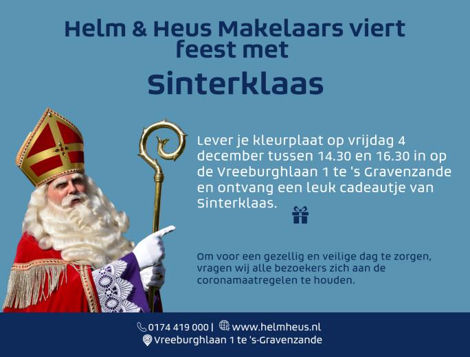 Helm & Heus Makelaars viert feest met Sinterklaas