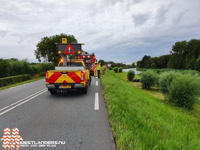 Automobilist gewond bij ongeluk Maasdijk