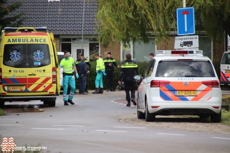 Scooterrijder gewond bij ongeluk Groeneweg