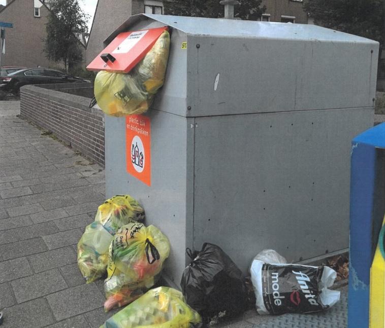 Collegevragen inzake verzamelcontainers die niet voldoen