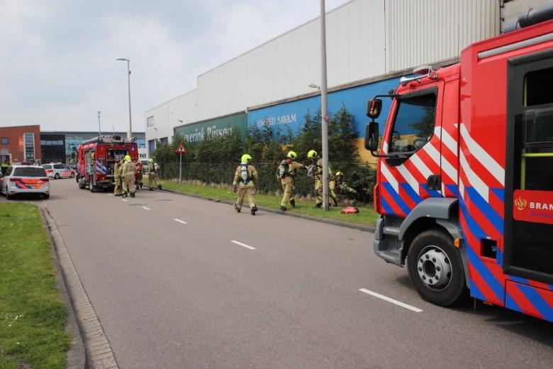Vrachtwagenbrand op de Transportweg