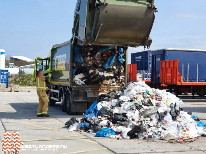 Brand in vuilniswagen door accu laptop