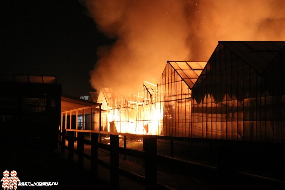 Zeer grote brand aan de Opstalweg