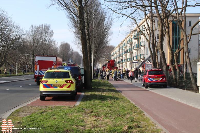 Vijf gewonden bij grote brand Erasmusweg