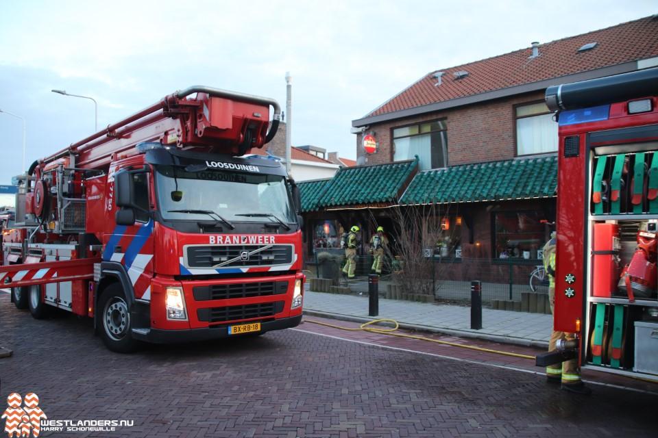 Binnenbrand bij chinees restaurant