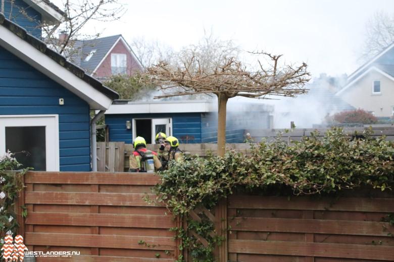 Schuren in brand aan de Agnes Croesinklaan