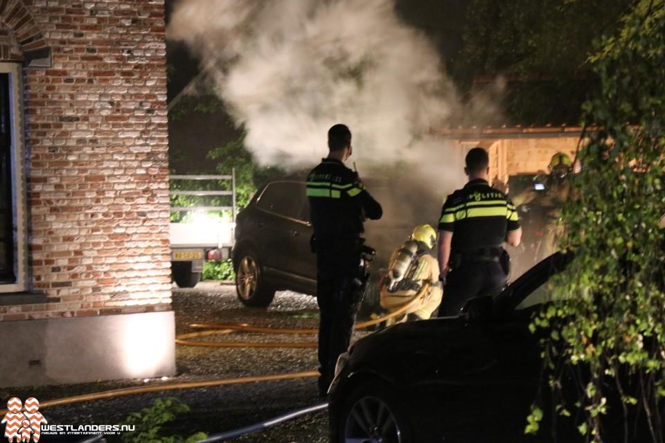 Autobrand aan de Noord-Lierweg