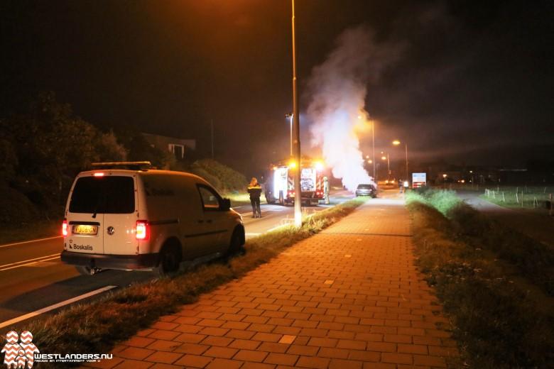 Autobrand aan de Monsterseweg