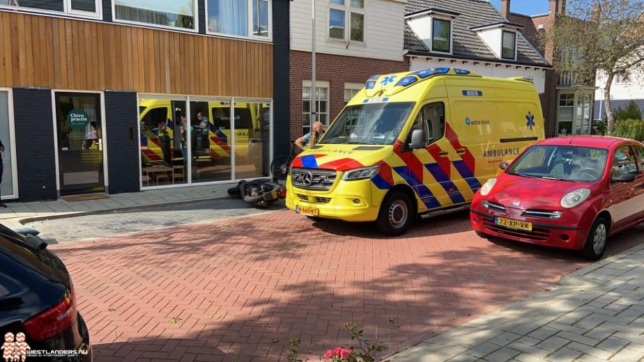 Scooterrijder gewond na ongeluk Emmastraat