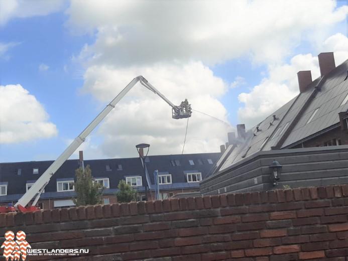Zonnepanelen in brand op dak Wissingstraat