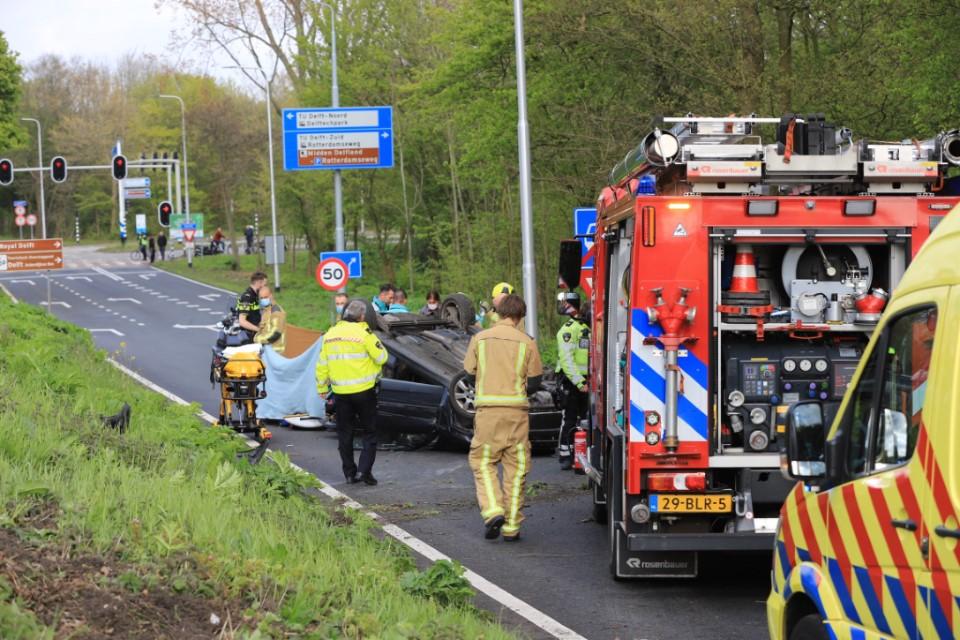 Fataal ongeluk bij afrit Kruithuisweg