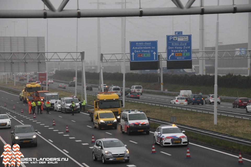 Ongeluk op de A4 tijdens avondspits