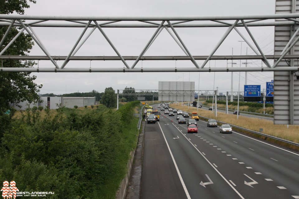 Klein ongeluk op de A4