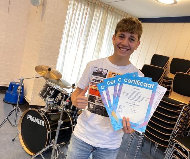 Leerlingen Rotterdam aan Zee geslaagd voor muziekexamens