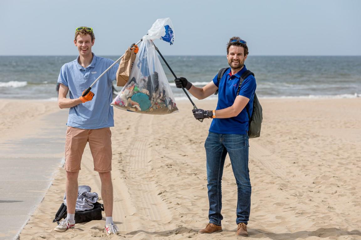 Resultaat beach clean-up tour bij Nederlandse kust