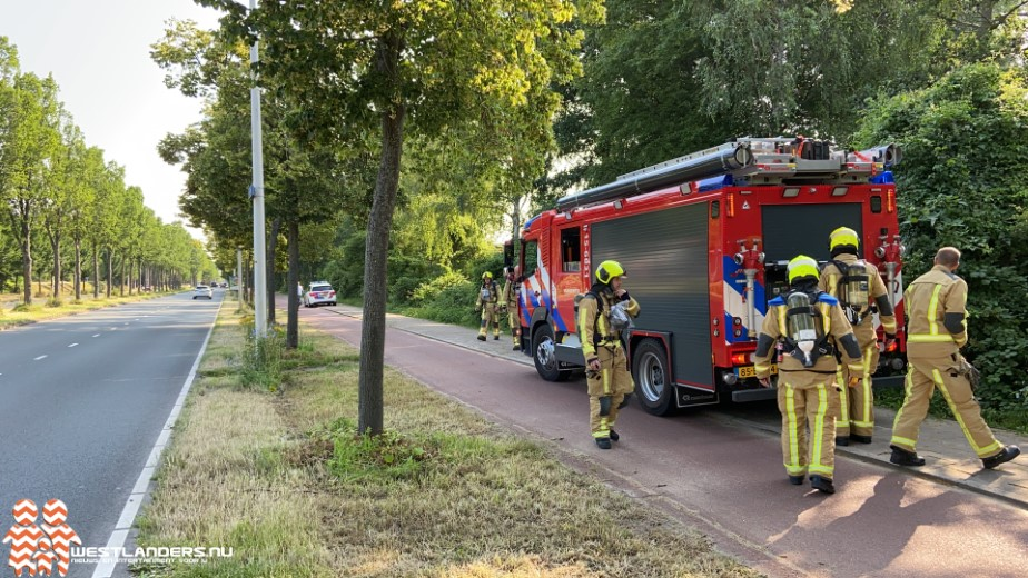Brandweerkorpsen in actie voor gaslucht