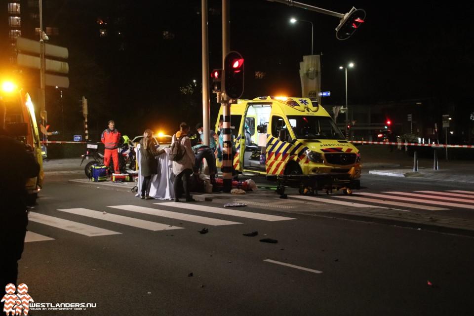 Scooterrijder zwaar gewond bij ongeluk Erasmusplein