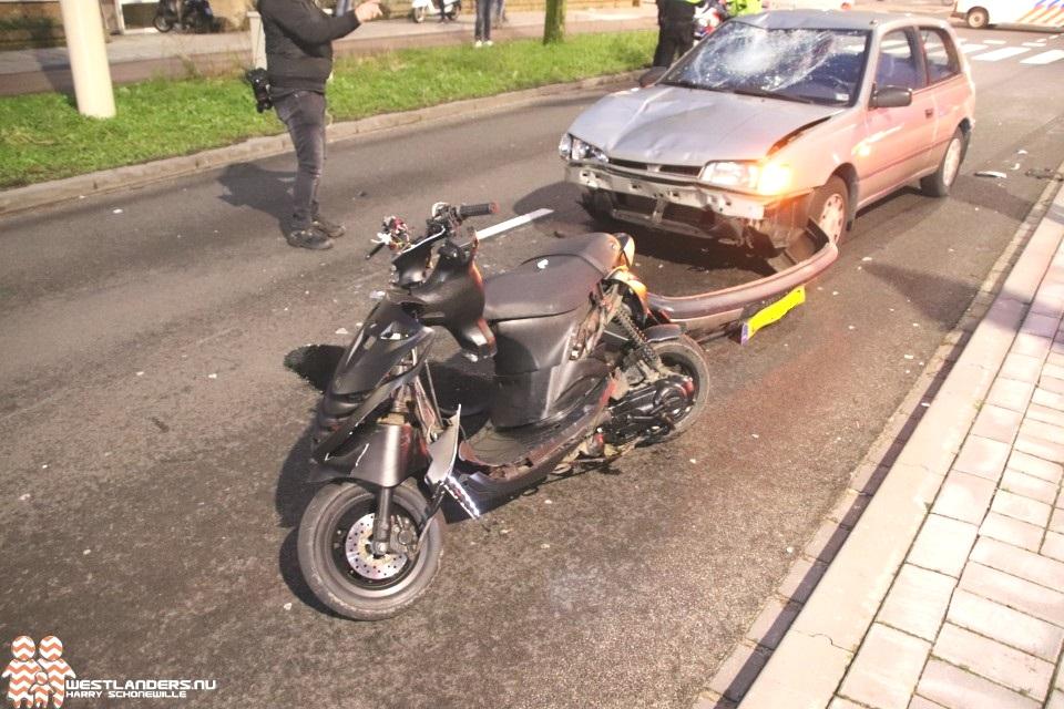 Scooterrijder ernstig gewond bij ongeluk Erasmusweg