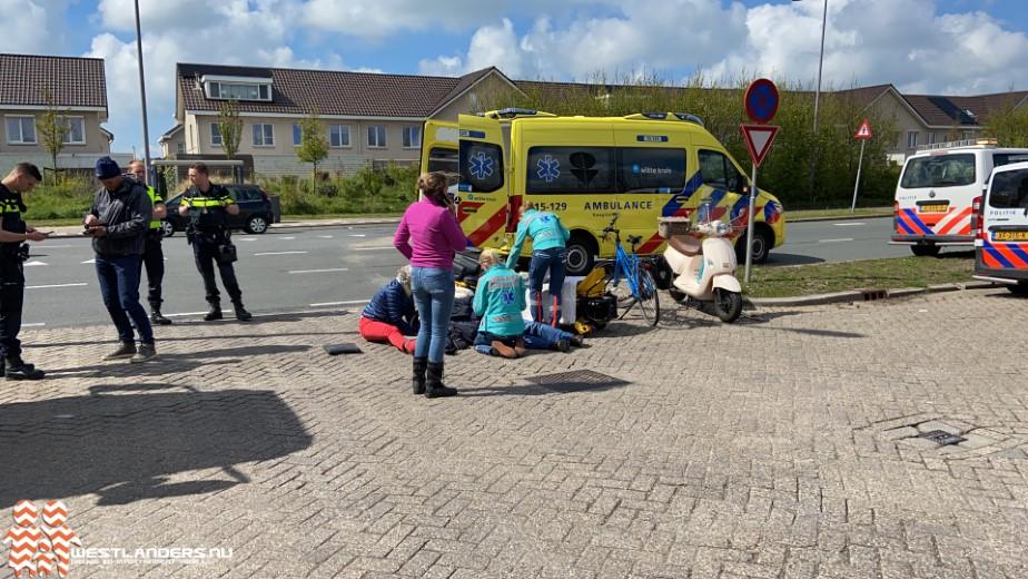 Scooterrijder gewond bij ongeluk Nieuwlandse Polderweg