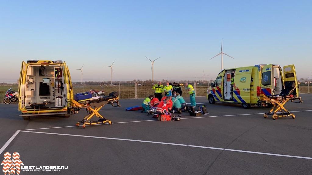 Motorcrosser zwaargewond bij ongeluk Polderhaakweg