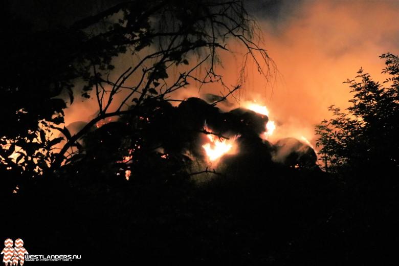Middelbrand bij afvalverwerker Hoek van Holland
