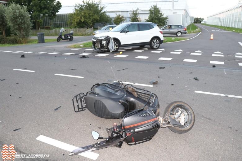Scooterrijder gewond na ongeluk Zwethlaan