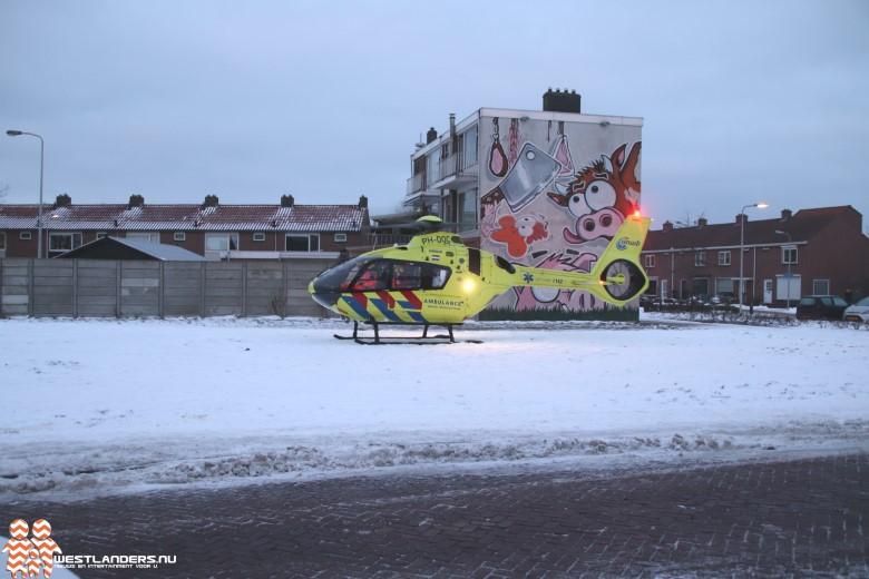 Traumahelikopter naar de Korte Kruisweg
