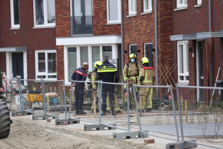 Gaslek bij nieuwbouw woningen Maasdijk