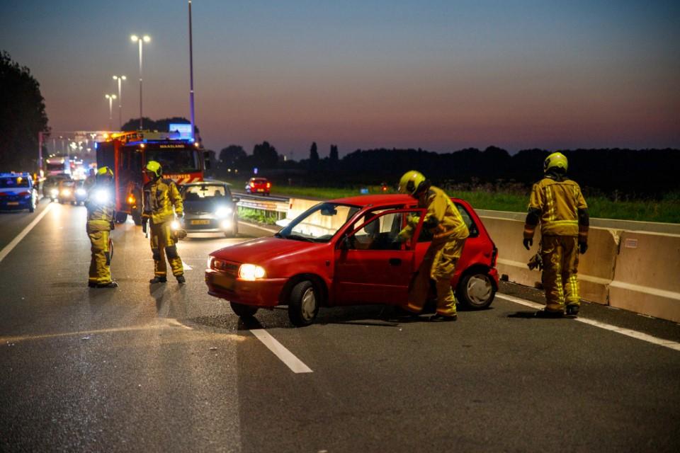A20 dicht na ongeluk