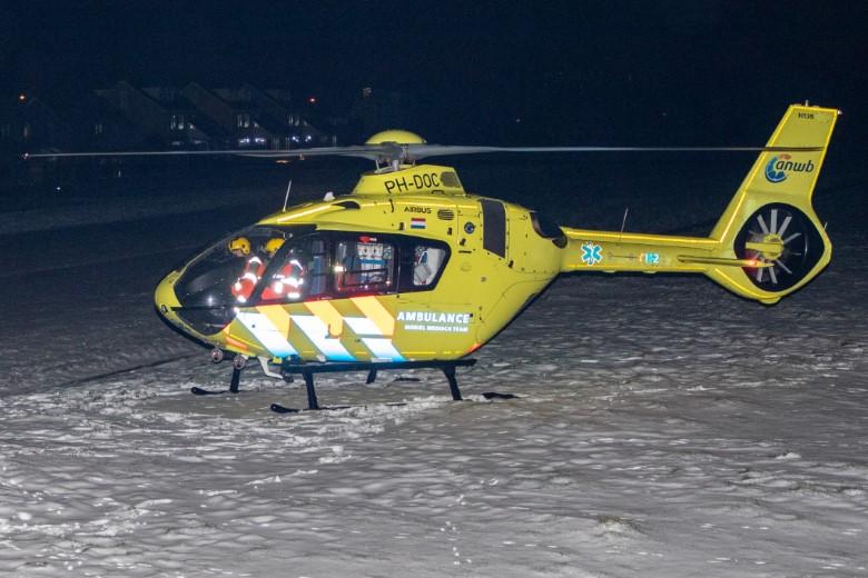 Nachtelijke inzet traumahelikopter