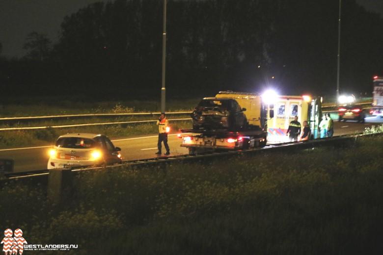 Automobilist gevlucht na ongeluk A20