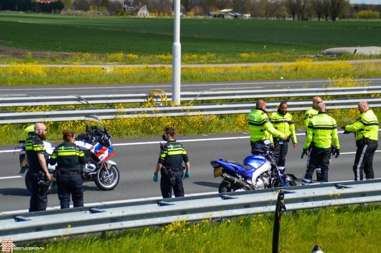 Motorrijder gewond na ongeluk op de A20