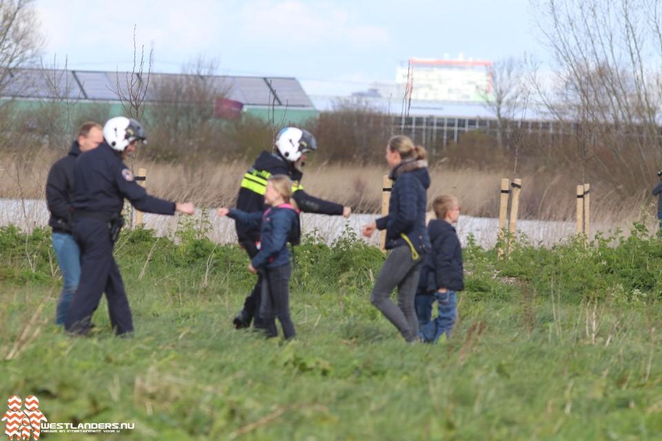 Politiehelikopter landt in Kraaiennest
