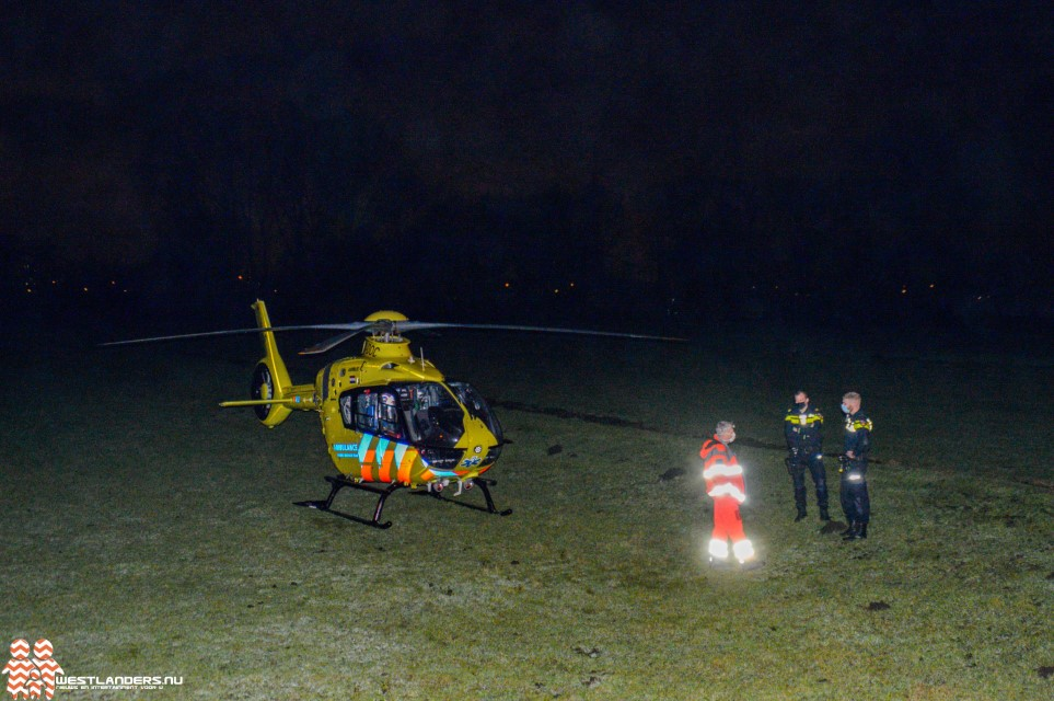 Traumahelikopter naar de Kluisweer