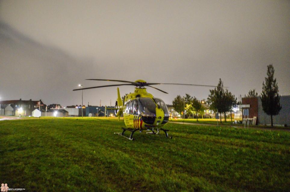 Traumahelikopter ingezet bij onwelwording