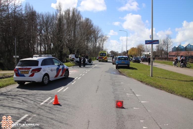 Lesauto veroorzaakt ongeluk op de Madeweg