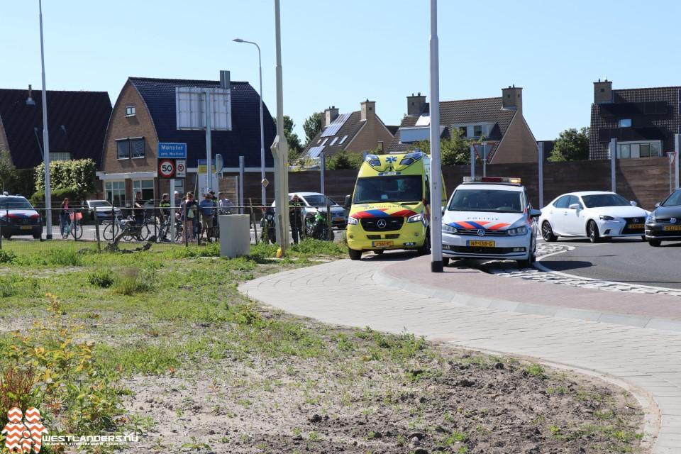 Fietsster gewond na aanrijding met motor