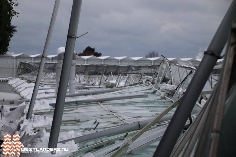 Schades bij tuinbouwbedrijven door stuifsneeuw