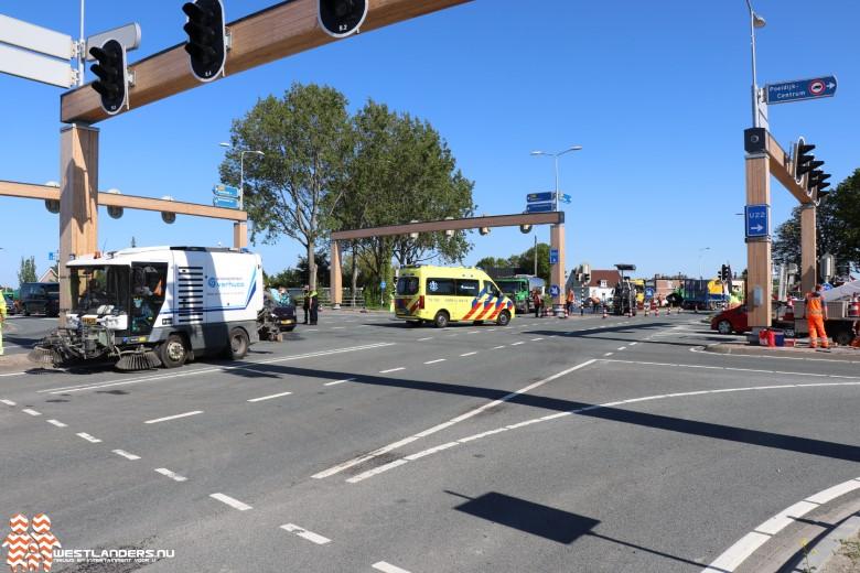 Gewonde bij ongeluk tijdens wegwerkzaamheden N213