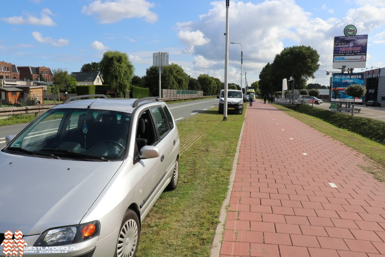 Kop-staart klapper op de Nieuweweg