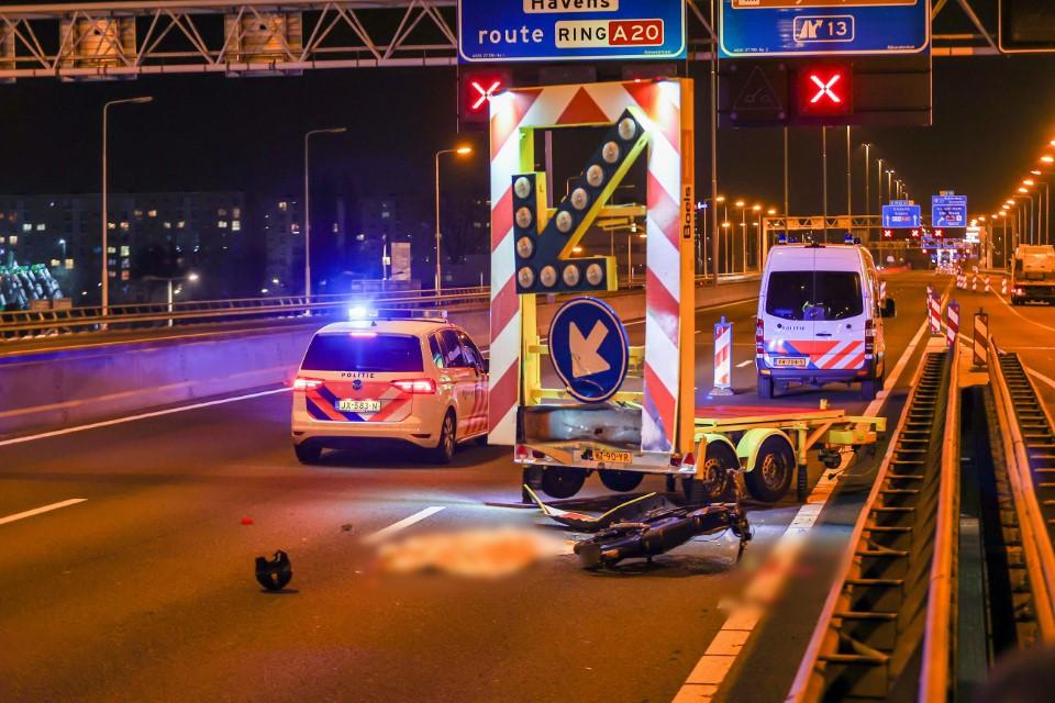 Motorrijder verongelukt op de A20